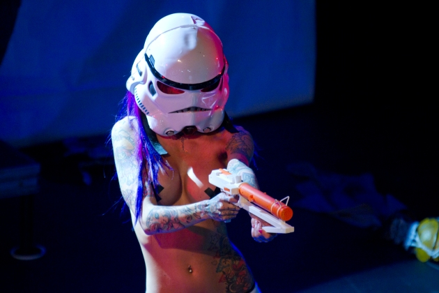 Bambu Suicide as Stormtrooper in the final routine of the night.